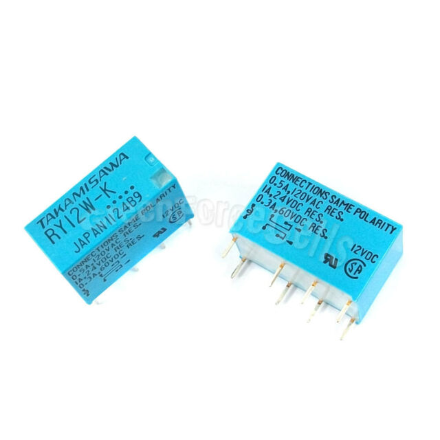 10 X Ry12wk 12vdc Relay 8 Pin DPDT Signal Relay TAKAMISAWA Fujitsu