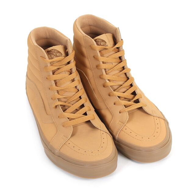 Vans Men's SK8Hi Reissue Vansbuck Leather Trainer Light Gum / MonoGum7 Size 7