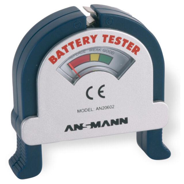 ANSMANN Testgerät Battery Tester Akku Batterie Prüfgerät Batterietester 4000001