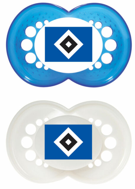 HSV Hamburger SV  Schnuller MAM 2er SET SILIKON SCHNULLER NUCKEL  6-16 Mon