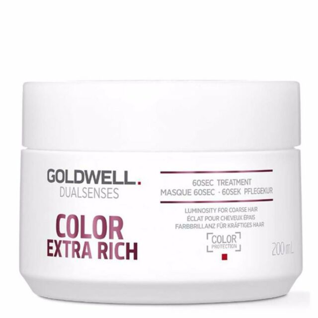 Goldwell Color Extra Rich 60sec Treatment for Thick to Coarse Colored Hair 200ml