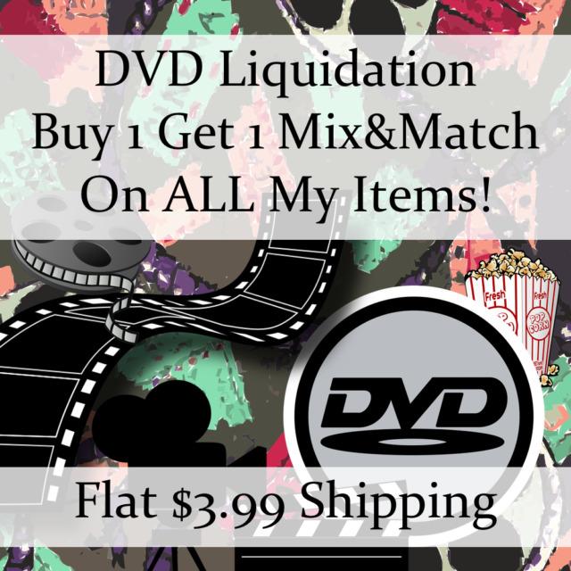 New Movie DVD Liquidation Sale ** Titles: J-K #608 ** Buy 1 Get 1 flat ship fee