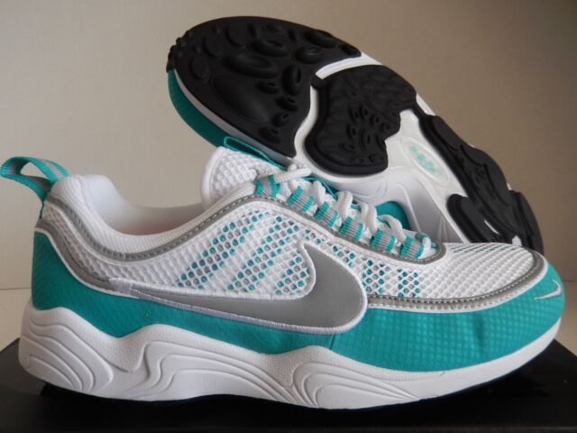 NIKE ZOOM SPIRIDON WHITE-SILVER-TURBO GREEN SZ 9.5 [849776-102]