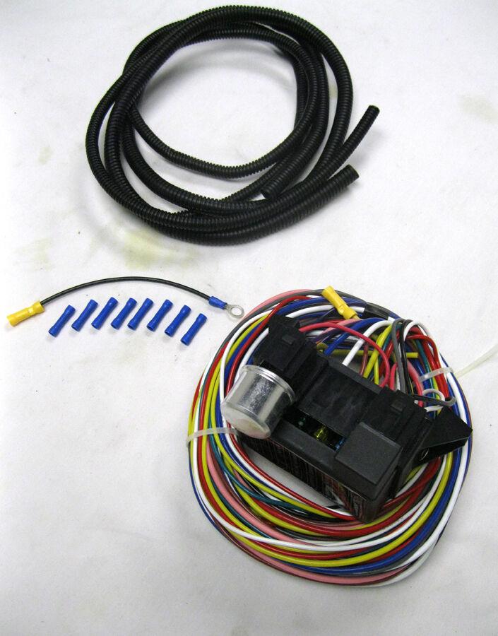 s l1600 12 circuit universal wire harness muscle car street hot rad rod xl