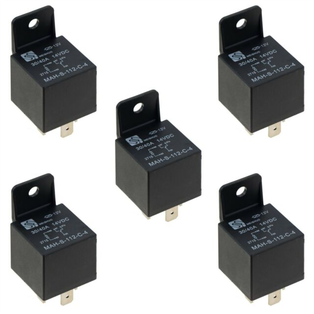 5x 12 V Waterproof Car 5pin 40a Long Life Automotive Relay - Automotive Relay Normally Open