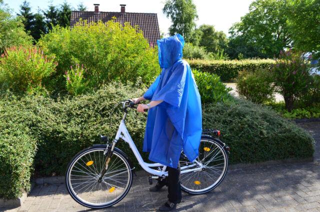 Regenponcho Regen Jacke Schutz Poncho Cape Kaputze Fahrradponcho Regenbekleidung