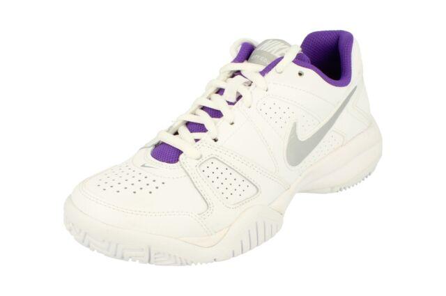 Da Donna Unisex Nike viola in pelle sneaker alte UK 5 USATO