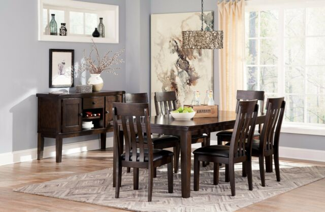 Ashley Furniture Haddington 7 Piece Dining Room Set D596 | eBay