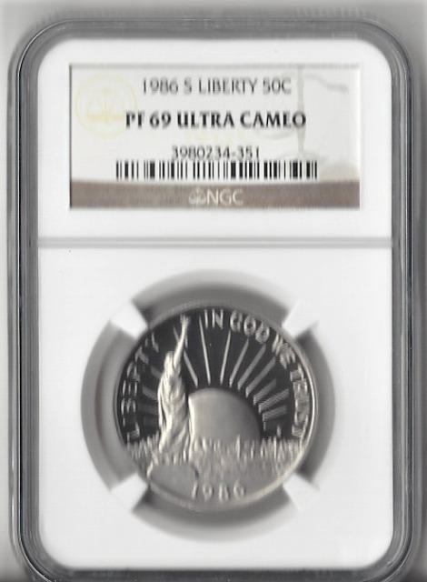 1986-S Statue of Liberty - Half Dollar - PF 69 Ultra Cameo NGC