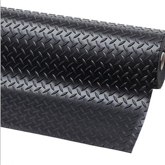Garage Rubber Matting Flooring 1 Bar Checker Rubber Floor Roll Non Slip Mat