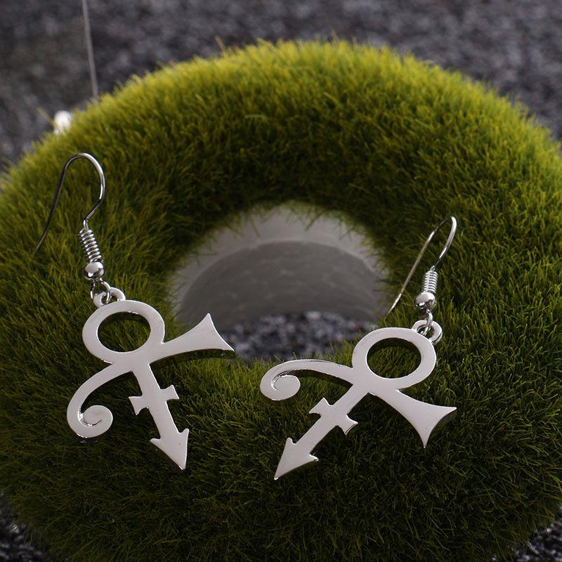 Prince Love Steampunk Ankh Sign Purple Rain Ladies Women Earrings 4