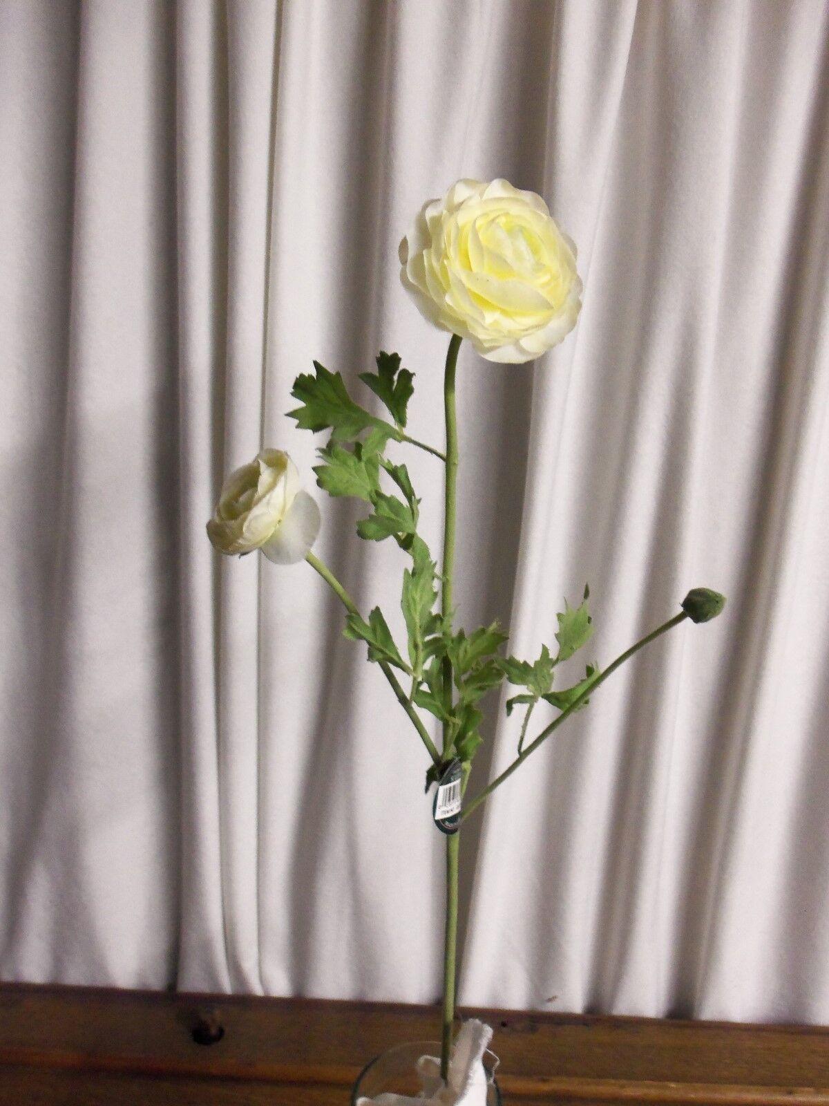 6 Stems Cream Ranunculus Sullivans Gg371cr Wedding Bulk Silk