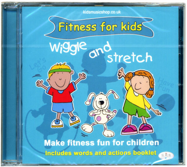 Wiggle & Stretch  Fitness CD for Kids.  Includes words and actions booklet. NEW