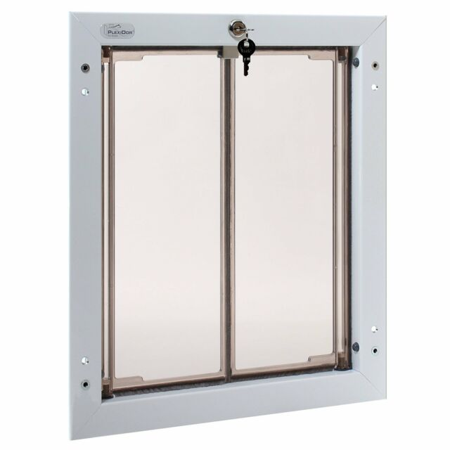 Plexidor Premium DOOR Mounted White Pet Doors in 4 Sizes  sc 1 st  eBay & PlexiDor Premium Door Mounted Pet Doors in 4 Sizes \u0026 3 Colors ...