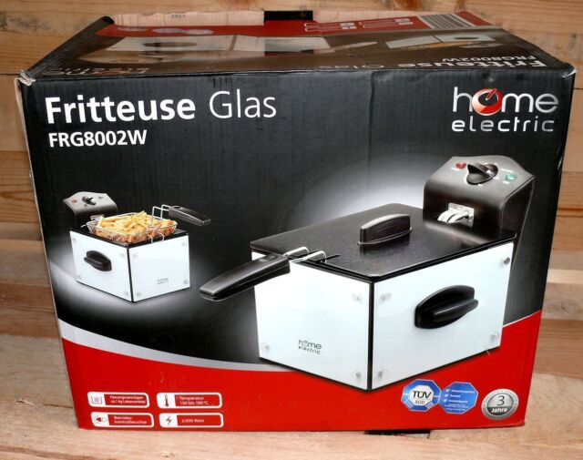 Home Electric FRG8002W Fritteuse Glasseiten Friteuse 2,6L 2000W Thermostat 21