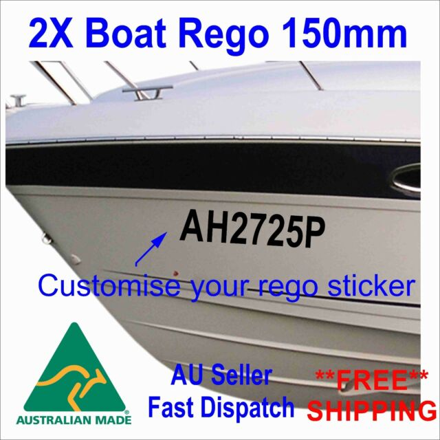 Customized Boat Registration Numbers. / Choose From 40 Custom Colors.  /Custom Vinyl Letter Number Decal Sticker. / by 1060 Graphics.