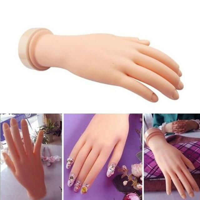 Flexible Soft Plastic Flectional Mannequin Model Hand Nail Art ...