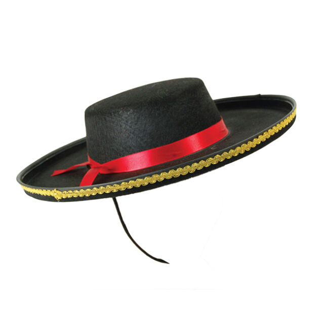 Adult Spanish Hat Bandit Bull Fighter Fancy Dress Costume Prop Spain