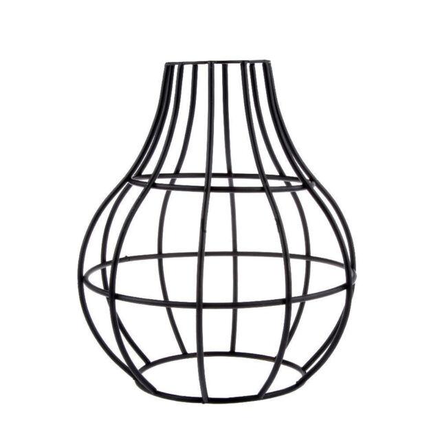 Vintage Lampshade Vase Industrial Light Metal Frame Lamp Cage Guard ...