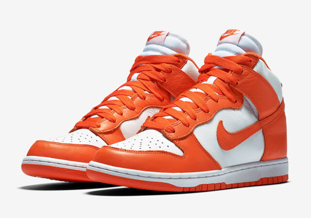 Mens Nike Dunk Retro QS 850477-101 White/Orange Blaze Brand New Sizes 10.5