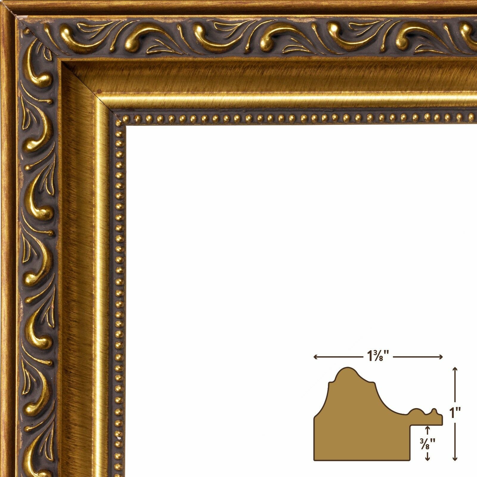 Craig frames ancient ornate antique gold picture frame 1 single picture 1 of 12 jeuxipadfo Gallery