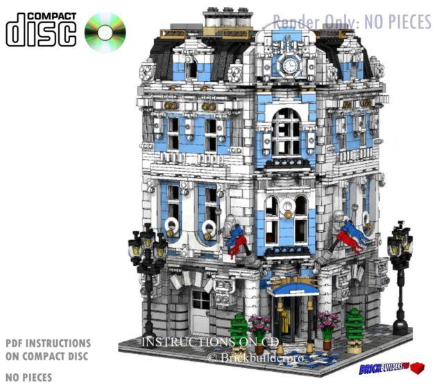 CD Custom Lego International Hotel City Town Instructions Cafe ...