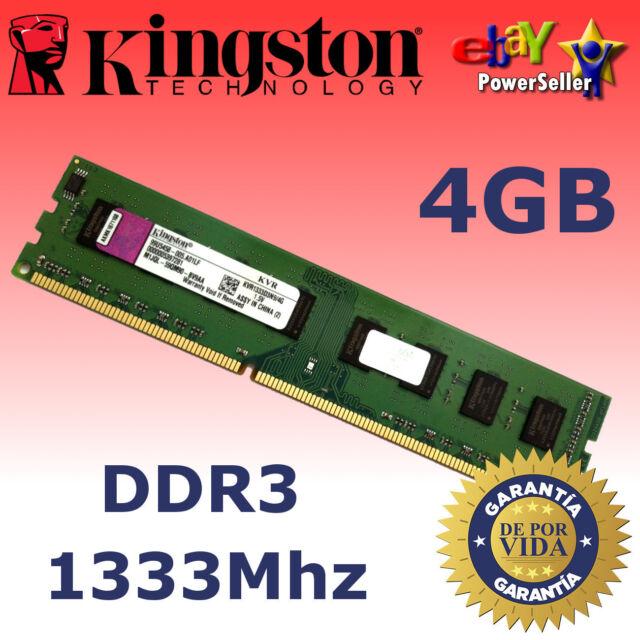 Memoria RAM DDR3 4GB 1333Mhz - Kingston ¡ NUEVA! - NO COMPATIBLE CON INTEL