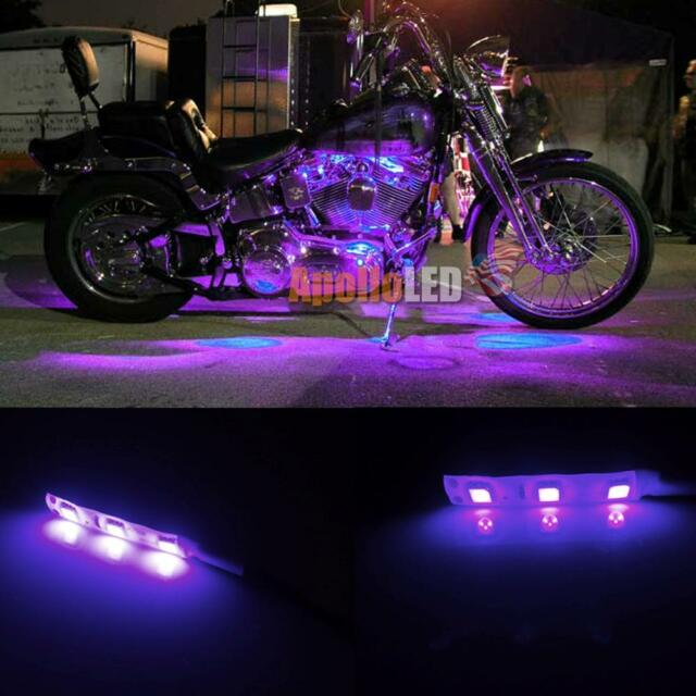 2x 5050 smd purple led strip lights for motorcycle under glow 2x 5050 smd purple led strip lights for motorcycle under glow accent lighting aloadofball Image collections