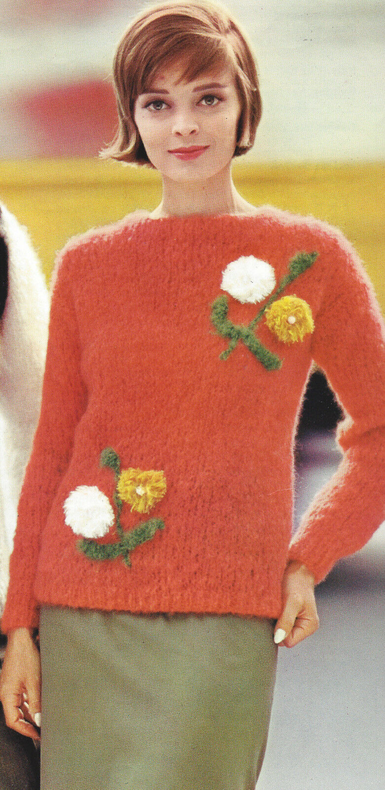 Vintage Knitting Pattern to Make Pullover Sweater Boat Neck ...