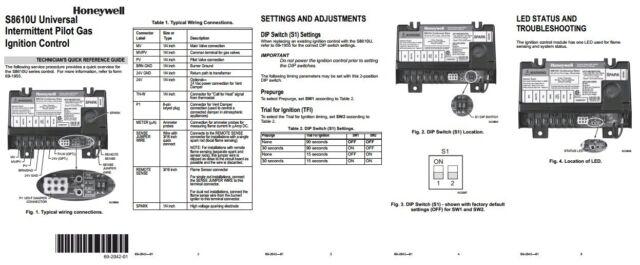 s l640 honeywell s8610u3009 universal intermittent pilot ignition module honeywell s8610u wiring diagram at crackthecode.co