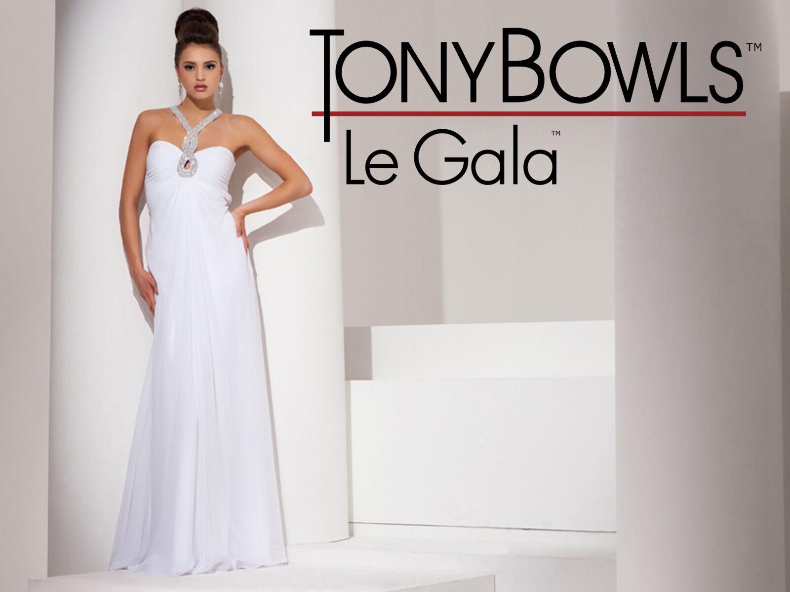 Tony Bowls Le Gala 115504 Color Ivory Size 6 Prom Dress   eBay