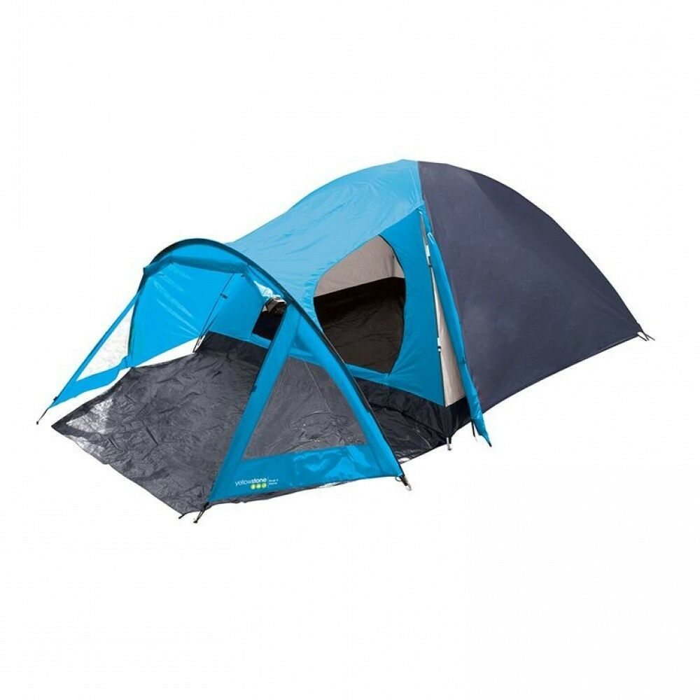 Picture 2 of 2  sc 1 st  eBay & Yellowstone 4 Man Peak Dome Tent With Porch Camping Festival Quick ...