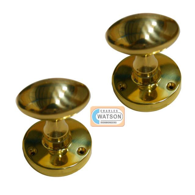 CARLISLE BRASS M34 Polished Brass Mortice Oval Knob Handle Door Cupboard