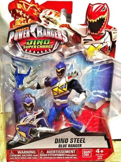 Power Rangers Dino Super Charge Steel Blue Ranger Figure