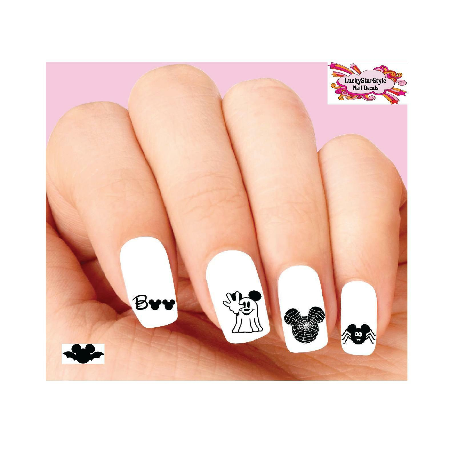 Waterslide Nail Decals Art Set of 20 - Mickey Mouse Halloween ...