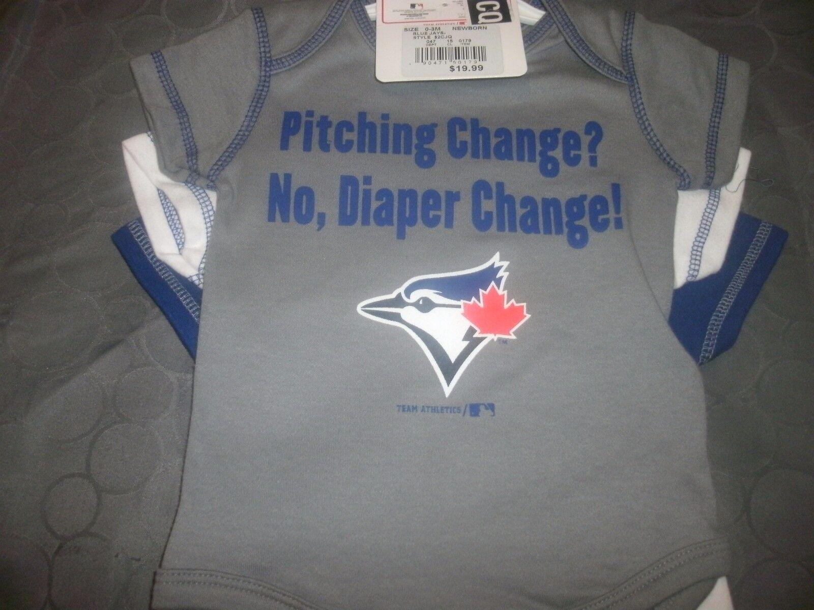 Toronto Blue Jays Team Athletics 3pc Creeper Bodysuit Set Infant