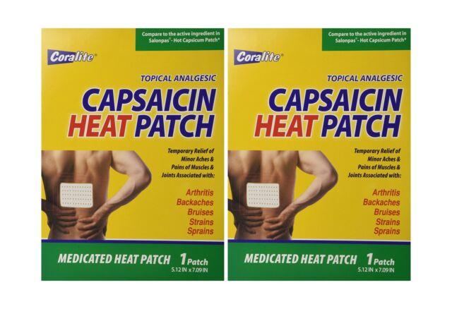 Coralite Capsaicin Hot Patch Bulk Case of 48 Free Shipping