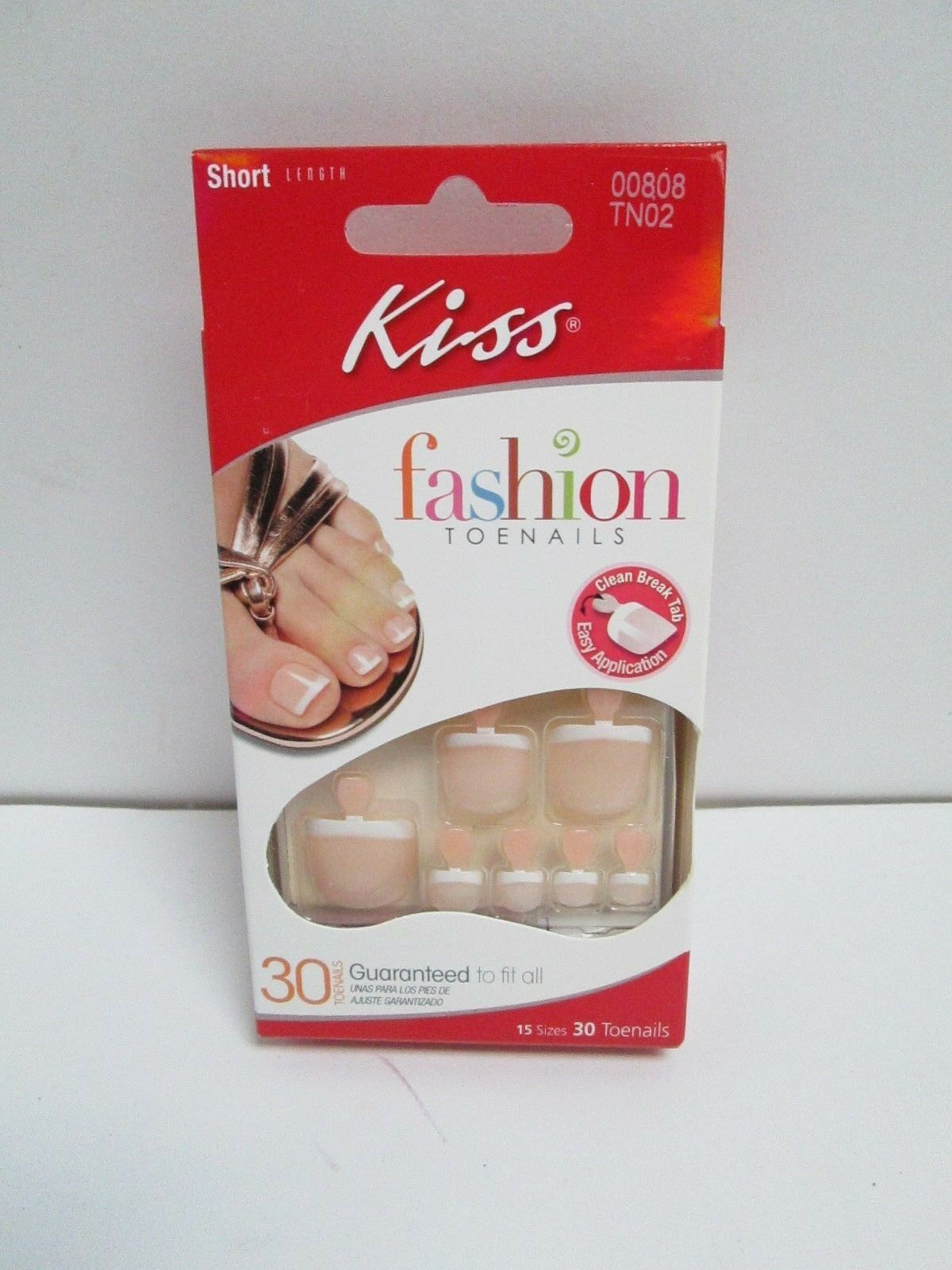 Kiss French Glue on Toe Nails Short Length 30 Ct 00808 Tn02 Bahamas ...