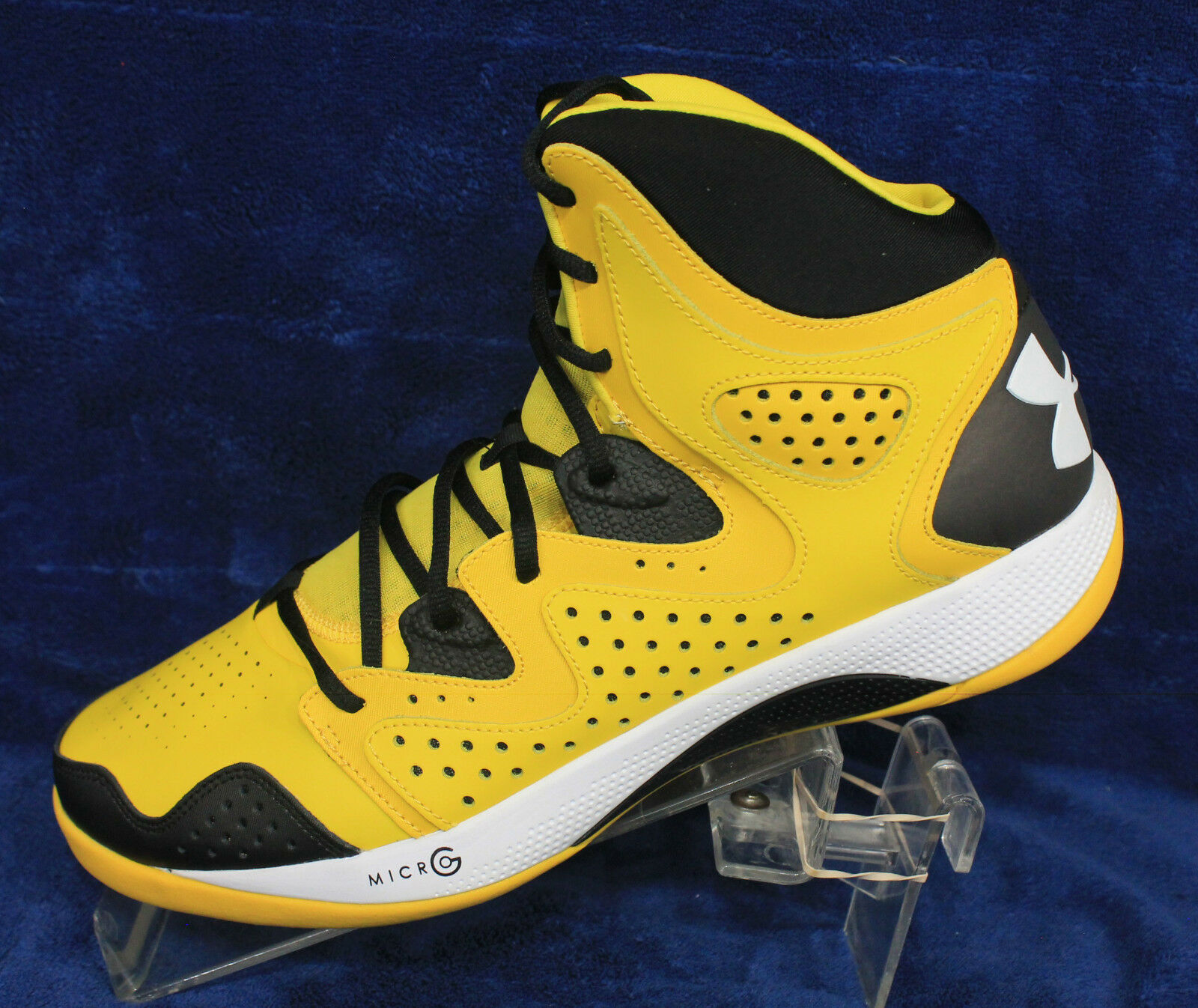 big sale 98c71 d50af closeout men under armour micro g torch 2 basketball shoe 1238926 12 yellow  1238926 790 ebay