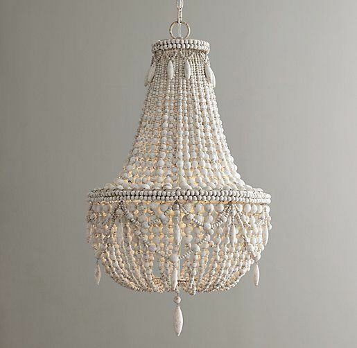 Anselme beaded wood lighting restoration hardware styl modern crystal chandelier