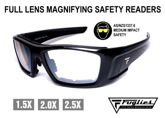 Fuglies Full Lens Magnifying Safety Readers - ASNZS1337 Medium Impact