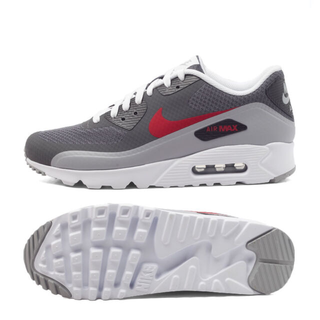 Nike Air Max 90 Ultra Essential 819474 006 Mens Sz 11 DARK WOLF GREY GYM RED