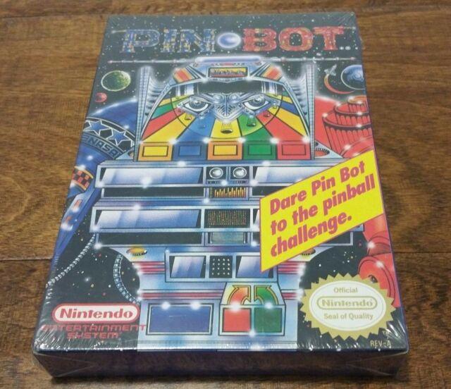 Pin Bot Nintendo NES - BRAND NEW Factory SEALED H-Seam Pinbot Retro NIB CIB RARE