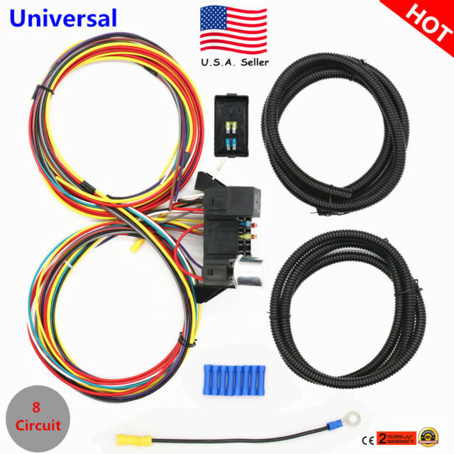 8 circuit wiring harness wiring diagram painless wire harness connectors usa 8 circuit fuse 12v universal wire harness muscle car hot rod 8 painless fuse block circuit 8 circuit wiring harness