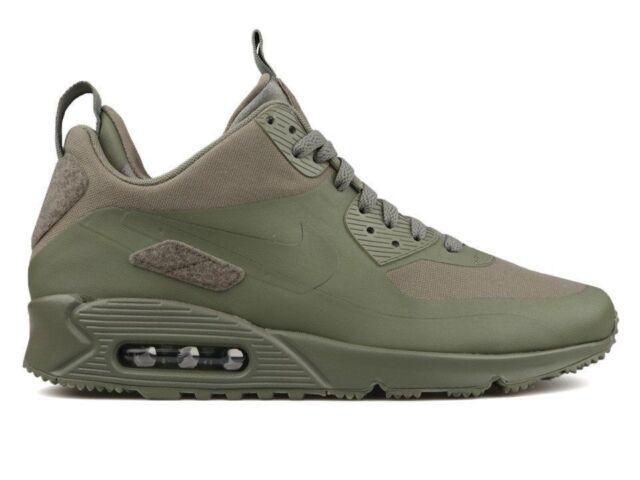 Men's Nike Air Max 90 Sneakerboot SP Patch Pack Steel Green Sneakers : G76o872