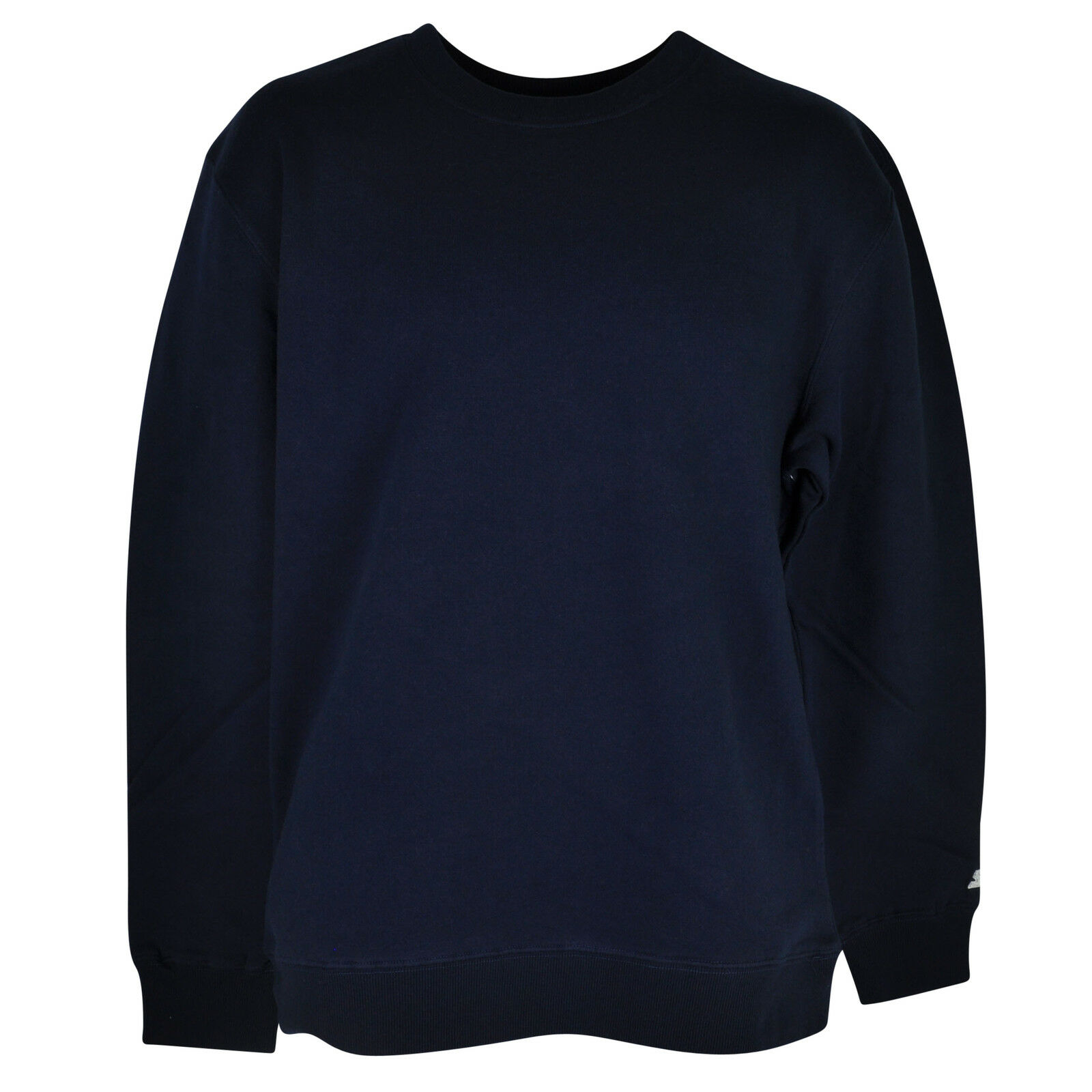 Starter Blank Plain Navy Blue Sweater Pullover Solid Mens Adult ...