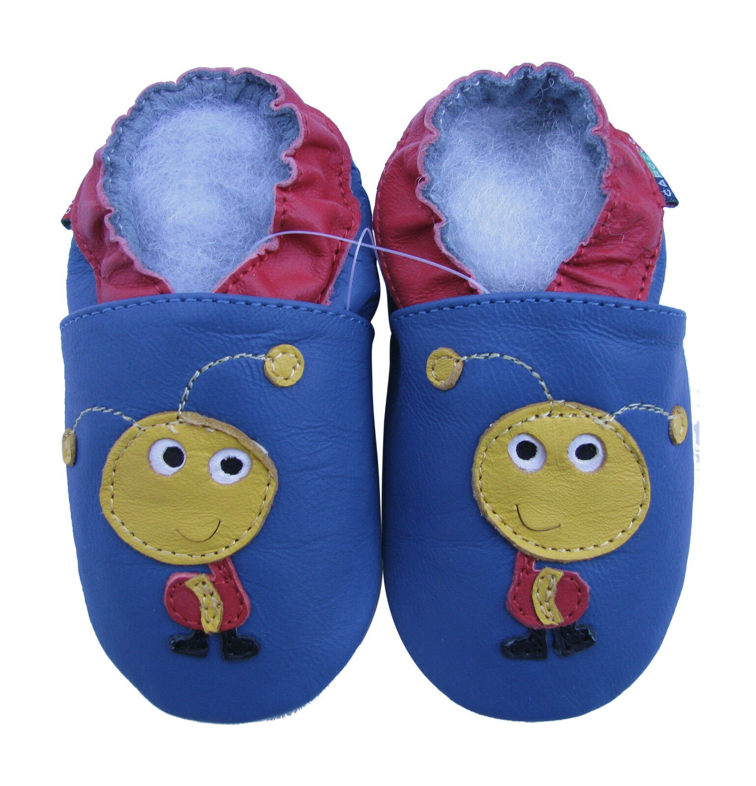 Shoeszoo Soft Sole Leather Baby Shoes ANT Blue 6 12m S