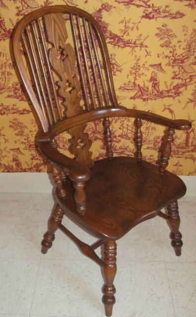 Conant Ball Royal Charter Oak Bowback Windsor Dining Room Arm Chair