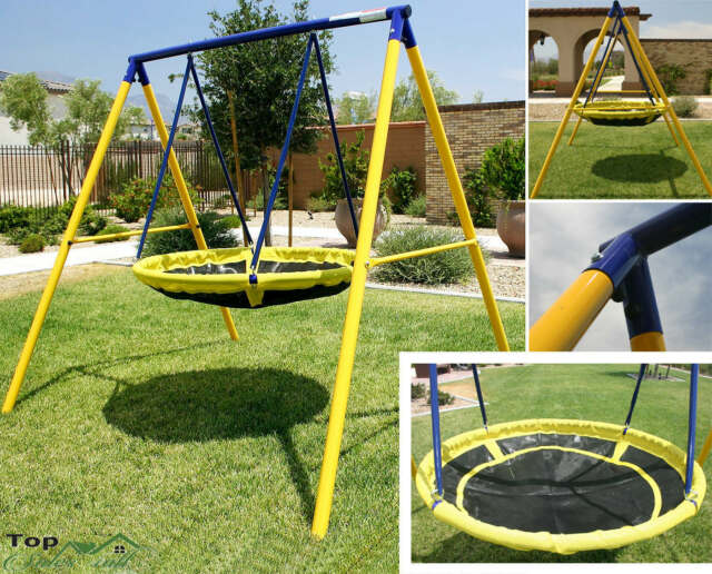 Swing Sets for Backyard Playground Children Round Yard ...