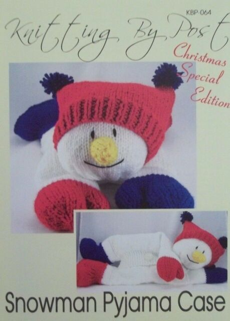 Knitting Pattern Snowman Pyjama Nightie Case Ebay